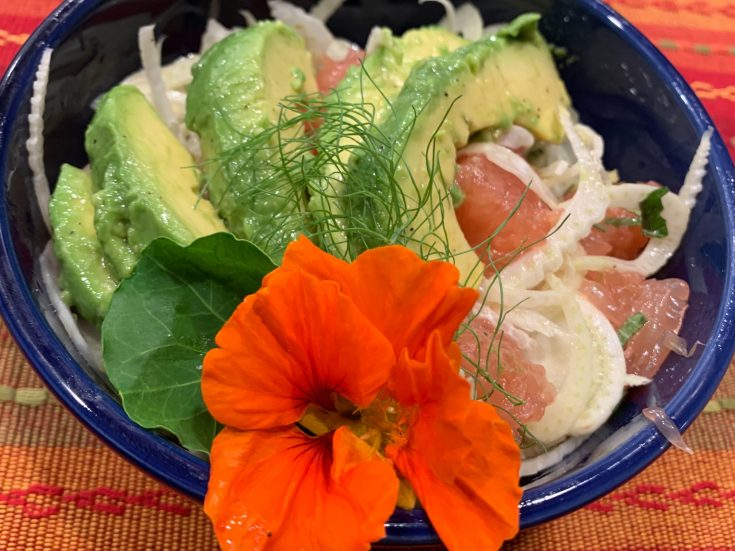 FENNEL SALAD WITH GRAPEFRUIT AND AVOCADO